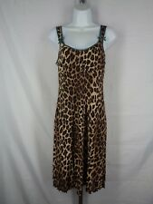 Nanette Lepore Petites Dress Size 8P Animal Print Empire Waist