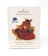 The Lion King Christmas Is In the Bag 2009 Hallmark Disney Ornament Pumbaa Timon