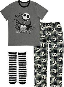The Nightmare Before Christmas Mens Pajamas Set Shirt Pant Sock Size S-2XL Gift