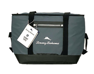 Tommy Bahama Marlin Sport Tote Insulated Beach Cooler 30 Can Microban Tech Gray