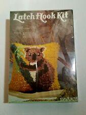 Vintage Nip 1978 Latch Hook Rug Kit Koala Cub Bear Sew Simple made in Usa 12x12