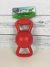 Tuff Woof Floatable Ball With Tug Handles Dog Toy Can Be Used In Water.