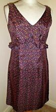 ANNA SUI 100% soie Ditsy Floral Dress US 2 UK 6 doucement porté une fois