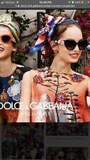 NEW Dolce & Gabbana - D&G - Black Sicilian Carretto Women's Designer Sunglasses