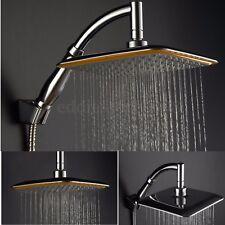9'' Rainfall Shower Head Square Top Metal Rain Sprayer Extension Pipe Bathroom