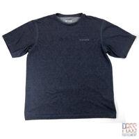 Columbia Mens L Short Sleeve Polyester Omni-Wick Shirt Blue