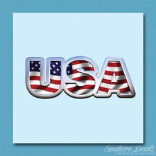 "USA American Flag - Vinyl Decal Sticker - c194 - 5"" x 2"""