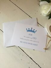 """Handmade Personalised """"Will You Be My Page Boy"""" Flat Card Invite"""