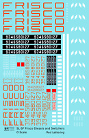 K4 O Decals SLSF Frisco Diesel Locomotive Red and White