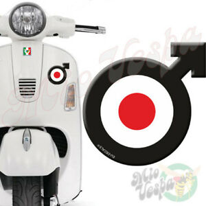 Male Symbol Target Black 3D Decal sticker for Vespa GTS GTV GT 125 250 300 50 ET