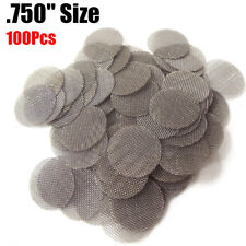"""100 Count 3/4"""" .75"""" 19mm Pipe Screens STAINLESS STEEL BEST Choice"""