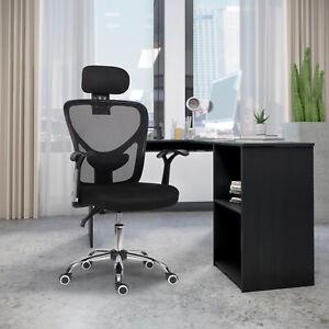 High-Back Mesh 360° Swivel Chair Ergonomic Office Chair w/Headrest Comfy Padded