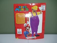 Super Mario Bros Wario Costume Child Size 10-12 Halloween Costume Dress Up Party