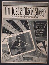 I'm Just A Black Sheep 1929 Jack Jackson Sheet Music