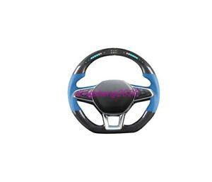 Carbon fiber LED steering wheel For Renault Latitude Scenic Koleos Espace Laguna