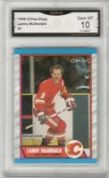 1989-90 O-Pee-Chee #7 Lanny McDonald | Graded GEM MINT 10