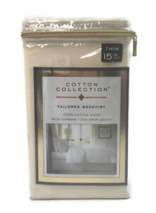 300-Thread-Count Cotton Twin Bed Skirt in Ivory