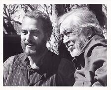 PAUL NEWMAN Director JOHN HUSTON Original CANDID Vintage JUDGE ROY BEAN Photo