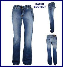 jeans datch da uomo pantaloni a zampa svasati bootcut scampanati campana w29 w30