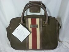 Tommy Hilfiger Fieldhouse Luggage Carry On, Brown, New