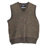 Vtg Allen Solly Wool Shetland Vest Knit Pullover Made in Scotland Size Large