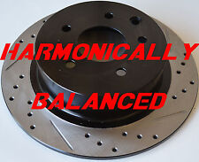 Fits 02-14 Altima SE-R Drilled Slotted Rotors Harmonically Balanced Rear Pair