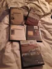 Set of 5 Preowned Empty, Standard-Thickness, Black DVD Cases Boxes Sleeves Cover