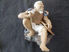 Vintage Shiwan MUD MAN clay pottery statue figurine 1890 - 1919