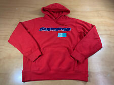 SUPREME CHENILLE LOGO PULLOVER HOODIE SWEATER SS19 2019 BOX BOGO L RED HOODED