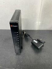Aztech ADSL Wireless LAN 4 Port Ethernet USB Combo Router Modem SINGTEL + PSU
