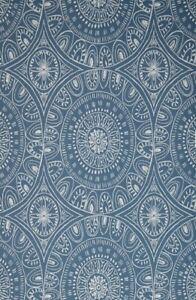2 Rolls John Lewis & Partners Persia Wallpaper, Indian Blue,  Batch  V