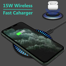 Qi Wireless Charger Fast Charging Dock Stand Pad For AirPods iPhone Samung LG