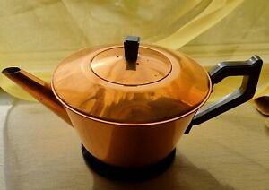 Vintage/retro copper teapot.