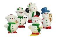 5 x mini snowmen / snowman Christmas Cake Decorations yule log cupcake toppers