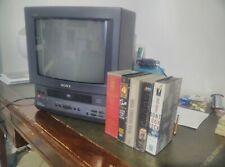 Rare Sony Trinitron TV CRT KV-14V6A + Stock of Music VHS
