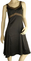 Cocktail Dress Size 12 MEI MEI Black Evening Formal V Neck Gold Special Party