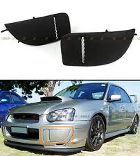 FOR 2004-05 SUBARU IMPREZA WRX STI GD JDM FRONT BUMPER FOG LIGHT LAMP COVERS BLK