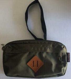 NWOT'S JANSPORT Fanny Pack Army Green Waist Bag Travel Shoulder Sling Back Waist