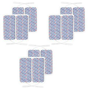 TensCare-Superior Large Electrode pads 50 x 100 mm, 3 packs of 4 (Total 12 Pads)