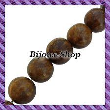 5 Perles Bois Boule Racine de Coco 26mm +/-