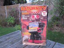 Vintage Saturn TV Walking Robot, Retro 80s, Boxed Working, Retro Toy