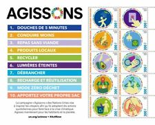 More details for togo environment stamps 2020 mnh un united nations act now recycling 10v m/s