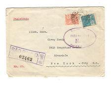 Einschreibebrief von Sao Paulo nach New York  1941