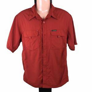 Columbia Men's Medium Hiking/Travel Shirt Short Sleeve Button Up