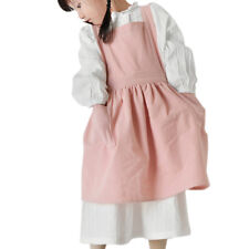 Kids Japanese Cotton Linen Advertising Apron Kitchen Baking Uniform With Pocket