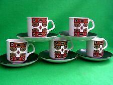 Meakin J & G Vintage Maori Tea Cup & Saucer Retro 1960s 70s Brown Studio 2