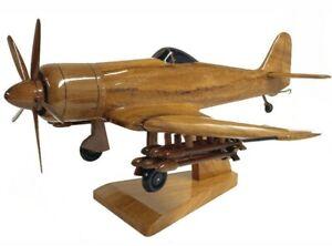 Hawker Sea Fury Royal Navy Fighter Aircraft Executive Wooden Desktop Model.