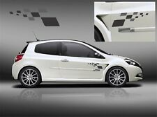 RENAULT CLIO SPORT RS R27 MEGANE F1 TEAM x2 Decal Set Stickers Graphics 225 197