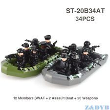 Brand New Lego Moc Special Ops SWAT Minifigure Team, Bundle Pack - Kids Gift