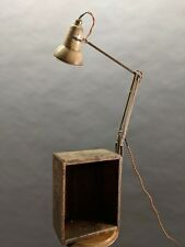 Herbert Terry Anglepoise Lamp 1227 mounted on vintage wooden wine box